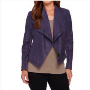 G.I.L.I. Purple open front leather Jacket pockets